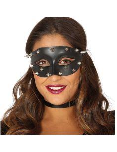 Antifaz Negro puntas Plata Tienda de disfraces online - venta disfraces