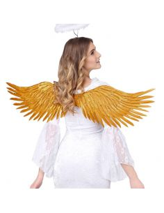 Alas con Plumas Doradas Tienda de disfraces online - venta disfraces