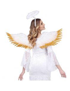 Alas con Plumas Blancas y Oro Tienda de disfraces online - venta disfraces