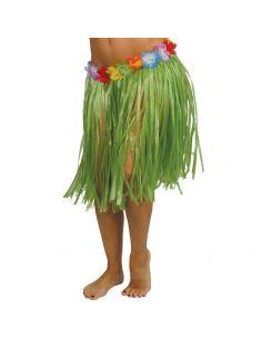 Falda Hawaiana Flores Verde 55 cm Tienda de disfraces online - venta disfraces