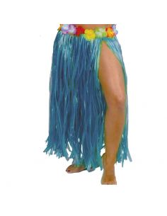 Falda Hawaiana Flores Azul 75cm Tienda de disfraces online - venta disfraces