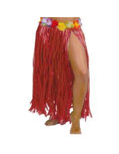 Falda Hawaiana Flores Rojo 75cm Tienda de disfraces online - venta disfraces