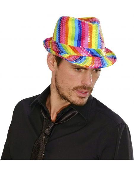 Fedora Arcoiris en lentejuelas Tienda de disfraces online - venta disfraces