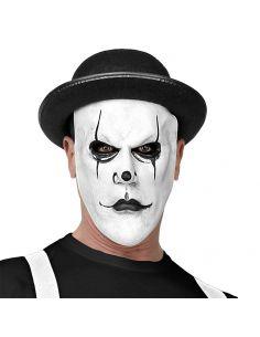 Máscara Arlequín Media Cara con Bombín