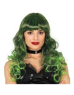 Peluca Melena Mechas Verdes Tienda de disfraces online - venta disfraces