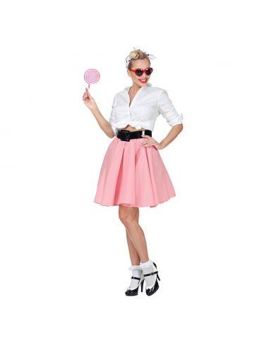 0ffb7e4f70b Falda Rock & Roll Rosa | Tienda de Disfraces Online | Mercadisfraces