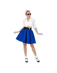 Falda Rock & Roll Azul Tienda de disfraces online - venta disfraces