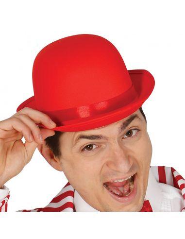 Bombín alta calidad Rojo Tienda de disfraces online - venta disfraces