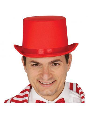 Chistera Roja alta calidad Tienda de disfraces online - venta disfraces