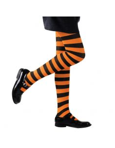Medias a Rayas Negro/Naranja infantil Tienda de disfraces online - venta disfraces