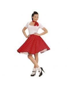 Falda de Lunares en Rojo años 50 Tienda de disfraces online - venta disfraces