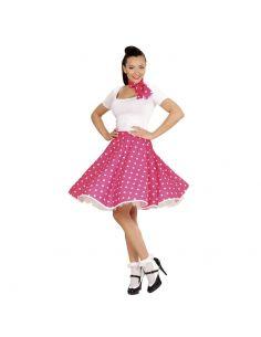 Falda de Lunares en Rosa años 50 Tienda de disfraces online - venta disfraces