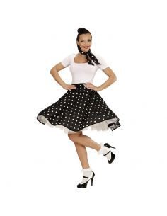 Falda de Lunares en Negra años 50 Tienda de disfraces online - venta disfraces