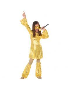 Disfraz Disco Dorado niña Tienda de disfraces online - venta disfraces
