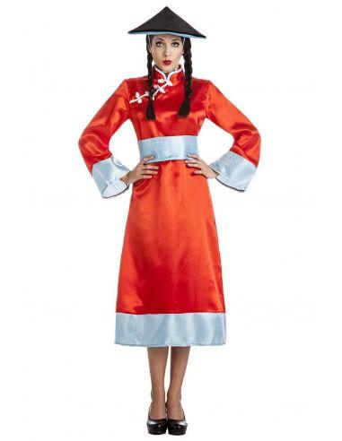 Disfraz de China en rojo para mujer Tienda de disfraces online - venta disfraces