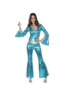 Disfraz de Disco Azul para Mujer Tienda de disfraces online - venta disfraces