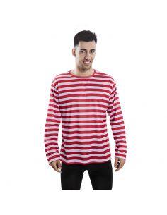 Camiseta rayas rojas adulto Tienda de disfraces online - venta disfraces
