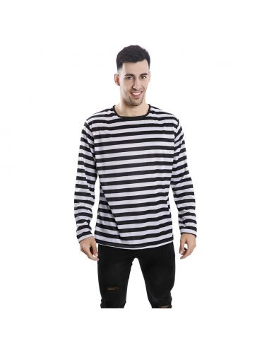Camiseta rayas negras adulto Tienda de disfraces online - venta disfraces