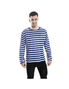 Camiseta rayas azules adulto Tienda de disfraces online - venta disfraces
