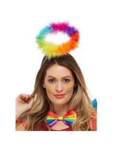 Halo de pluma en multicolor Tienda de disfraces online - venta disfraces
