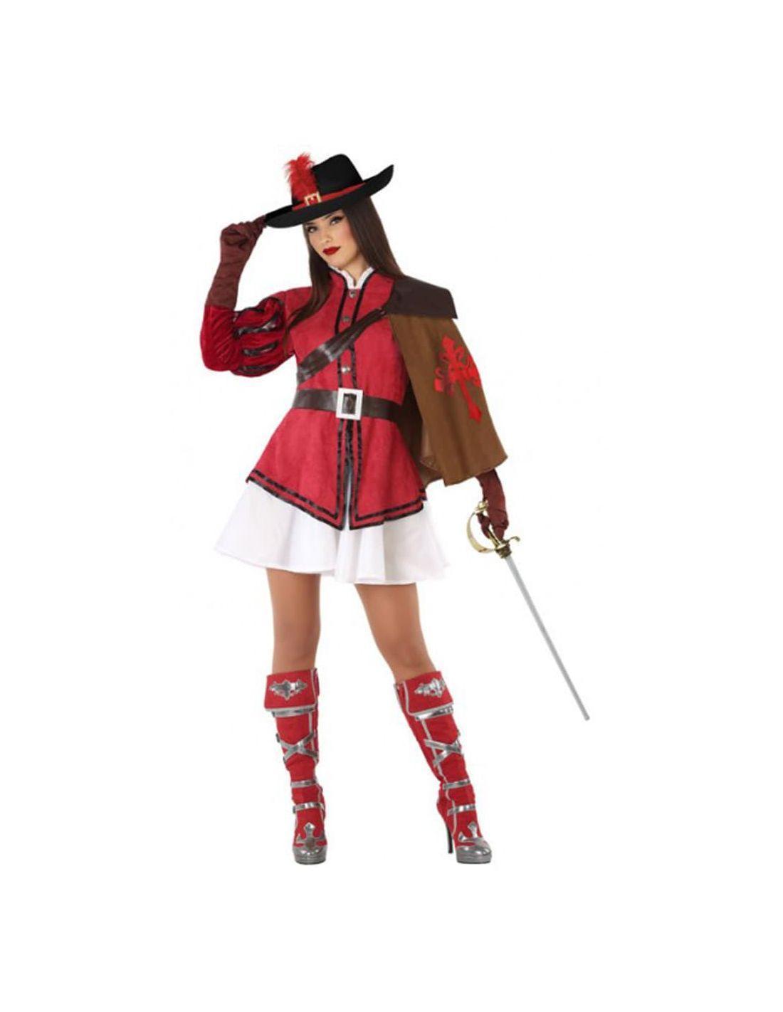 dd6bc24cd Disfraz de Mosquetera Rojo para mujer | Tienda de Disfraces Online...