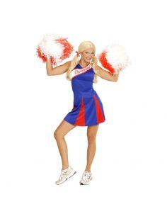 Disfraz Animadora Mujer Azul y Rojo Tienda de disfraces online - venta disfraces