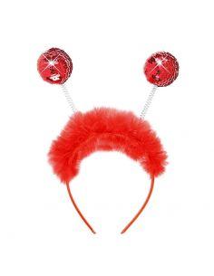 Diadema de lentejuelas Rojas y Marabú Tienda de disfraces online - venta disfraces