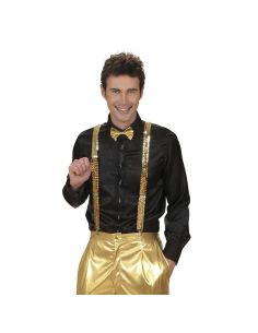 Tirante de Lentejuelas oro Tienda de disfraces online - venta disfraces