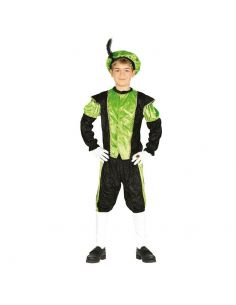 Disfraz Paje verde infantil