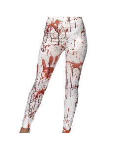 Leggings Blancos con Salpicaduras de Sangre Tienda de disfraces online - venta disfraces