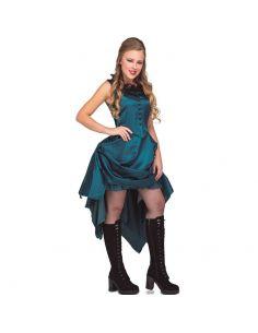 Disfraz Chica Saloon Azul mujer Tienda de disfraces online - venta disfraces
