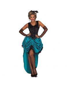 Disfraz Señorita Saloon Azul mujer Tienda de disfraces online - venta disfraces