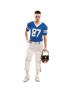 Disfraz Jugador Rugby Azul hombre Tienda de disfraces online - venta disfraces