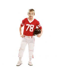 Disfraz Jugador Rugby Rojo niño Tienda de disfraces online - venta disfraces