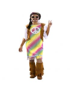 Disfraz Hippie Arcoíris para mujer Tienda de disfraces online - venta disfraces