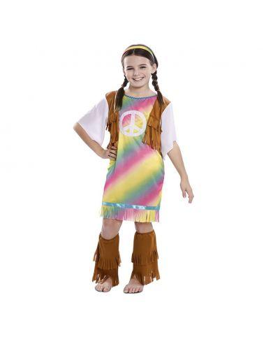 Disfraz Hippie Arcoíris para niña Tienda de disfraces online - venta disfraces