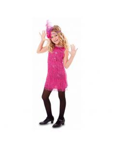 Disfraz Charleston fucsia para niña Tienda de disfraces online - venta disfraces