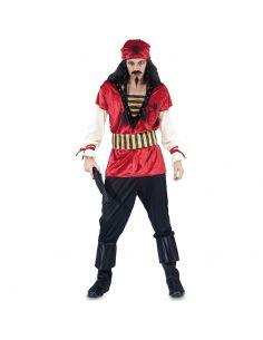 Disfraz de Pirata Rojo hombre Tienda de disfraces online - venta disfraces