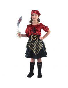 Disfraz Pirata Rojo niña Tienda de disfraces online - venta disfraces