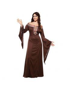 Disfraz Dama Medieval Marrón adulto Tienda de disfraces online - venta disfraces