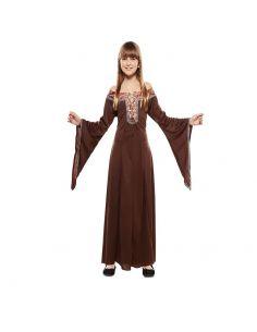 Disfraz Dama Medieval Marrón infantil Tienda de disfraces online - venta disfraces