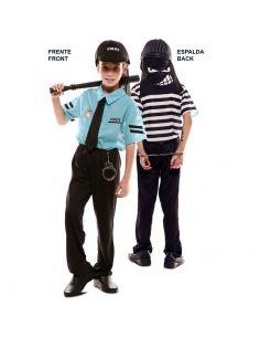 Doble Disfraz de Policía y Ladrón infantil Tienda de disfraces online - venta disfraces