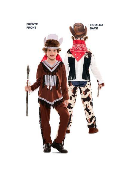 Doble Disfraz de Indio y Vaquero infantil Tienda de disfraces online - venta disfraces