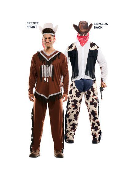 Doble Disfraz de Indio y Vaquero adulto Tienda de disfraces online - venta disfraces