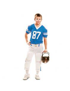 Disfraz Jugador Rugby Azul niño Tienda de disfraces online - venta disfraces