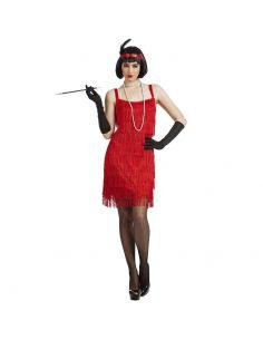 Disfraz de Charleston con Flecos Rojo Adulto Tienda de disfraces online - venta disfraces