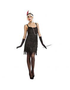 Disfraz de Charleston con Flecos Negro Adulto Tienda de disfraces online - venta disfraces