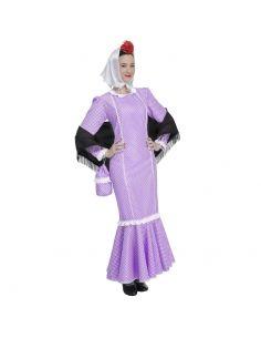 Disfraz de Madrileña Lila para Mujer Tienda de disfraces online - venta disfraces