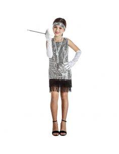 Disfraz de Charlestón Plata Infantil Tienda de disfraces online - venta disfraces