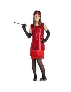 Disfraz de Charlestón Rojo Infantil Tienda de disfraces online - venta disfraces
